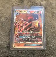 Salazzle GX 25/147 Burning Shadows Set ULTRA RARE Pokemon Card NEAR MINT