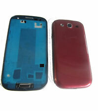 For Samsung Galaxy S3 III i9300 Fascia Housing Battery Cover Chassis Red + Black