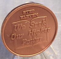 Step 10 Copper Twelve Step Medallion AA NA Recovery 12 Steps Serenity Prayer
