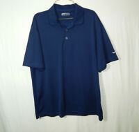Nike Golf Fit Dry Short Sleeve Polo Shirt Blue Size Large L Mens Clothing