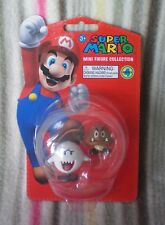 Super Mario - Mini Figure Collection Series 4  BOO & GOOMBA  New Sealed Nintendo
