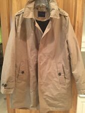Tommy Hilfiger Mens Khaki Trench Coat Rain Jacket Removable Liner $275 Size L