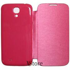 Custodia Cover Flip Per Samsung Galaxy S4 I9500 Fucsia Copri batteria +Pellicola