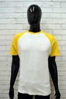 Maglia REEBOK Uomo Taglia M Maglietta Shirt Man Cotone Manica Corta Bianco Slim