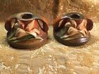 """Set Of Two Roseville Candle Stick Holders Zephyr Lily 1162 2"""""""