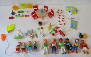 Playmobil Pool Beach Figures & Accessories Toy Lot Toy Bundle