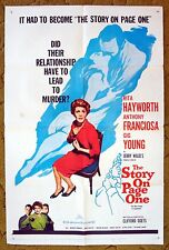 """Adulterous couple involved in murder thats """"THE STORY ON PAGE ONE"""" Rita Hayworth"""