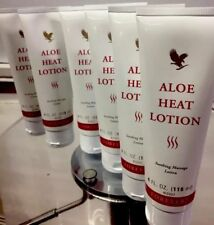 6 pcs Tubes Forever Living Aloe Heat Lotion (4 oz each tube) Soothing Massage