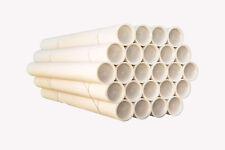 100 tubi CARTONE CON TAPPO PLASTICA SPEDIZIONI POSTALI 100x6cm DIAMETRO BIANCHI