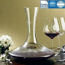 Red Wine Glass Crystal Decanter Carafe Aerator Wide Base Vivid Glassware 47 oz
