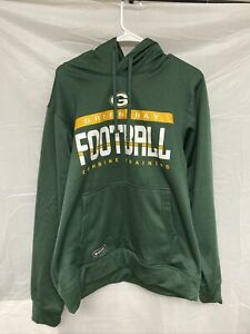 Green Bay Packers New Era Combine Training Pullover Hoodie Green SIZE L