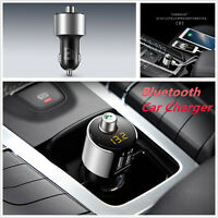 Car Kit FM Transmitter Wireless Radio Adapter Dual USB 3.1A Quick Charger Mp3
