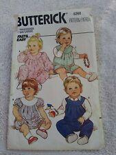 Butterick 6260 Infant's Romper Pattern - Size L 22-26lbs fast easy CUT