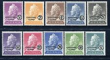 1958 Christmas Island Queen Elizabeth II Definitives - MUH Complete Set