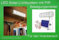 LED Solar Lichtsystem Wandleuchte Solarleuchte Lampe Innenleuchte Incl. Akku NEU