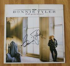"""ORIGINAL Autogramm von Bonnie Tyler. pers. gesammelt auf VINYL 12"""" """"HIDE YOUR.."""""""