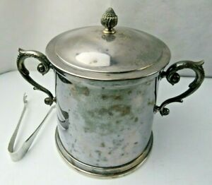 Silver Plate Ice Bucket Mid Century W A made in Italy