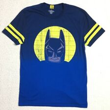 Batman Lego Shirt Adult size Medium Royal Blue Yellow Ombre DC Comics WB Top