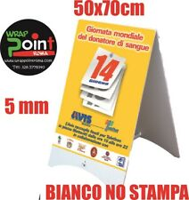 Espositore Lavagna Cavalletto Pubblicitario Bifacciale bianco polionda 50x70 cm