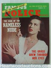 """Famous Police Cases"" March 1954 - High Grade"