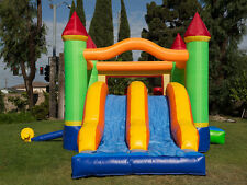 NEW Commercial Grade Double Slide  Inflatable Jumper Bounce House 100% PVC