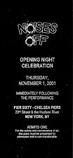 """Patti LuPone """"NOISES OFF"""" Peter Gallagher 2001 Unused Opening Night Party Ticket"""