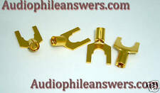 DH Labs SP-10 Gold Plated Pure Copper Spade Connectors DIY 10-12 AWG Set of 4