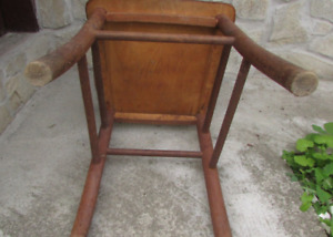 Vintage Handcrafted Wooden Child's Putty Chair, Rustic/Primitive