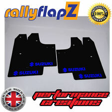 rallyflapZ SUZUKI SWIFT SPORT ZC32S (2012+) Mudflaps Black Logo Blue (3mm PVC)