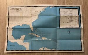RARE 1967 The Miami Herald Hurricane Tracking Map Hurricane American Red Cross