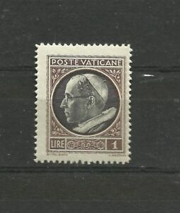 Vatican 1945 1 Lira Coat of arms or effigy of Pope Pius XII MNH Vaticano