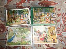 Herbart CH Spiele Puzzle Blocks Game, 6 Fairy Tales, Germany US ZONE, 1950's