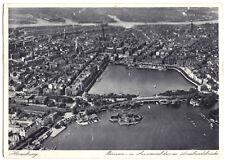 AK, Hamburg, Luftbild der Innenstadt, um 1930