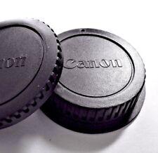 "New Canon BODY/ REAR LENS CAP SET-EF LENS & EOS CAMERA ""Fast U.S.A. shipping"""