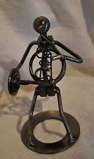 FRENCH HORN NUTS AND BOLTS METAL FIGURINE SCULPTURE MARCHING BAND GIFT