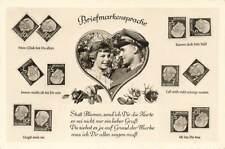 More details for vintage 1950s german stamp postcard, briefmarken sprache, stamp language ph4