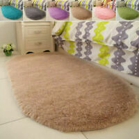 Fluffy Rug Anti-Skid Rugs Room Shaggy Home Area Carpet Floor Bedroom Mat Dining