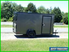 2021 6x12 blackout enclosed trailer grey landscaper specal motorcycle LED 6 x 12