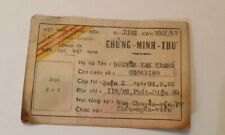 South Vietnam Soldiers Id Card War Time Rare