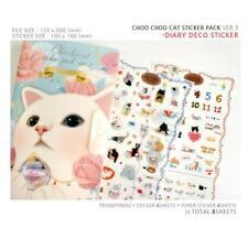 Ver.3 - 8 sheet + Book Jetoy Cat Sticker / Label