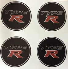 4 x Wheel stickers TYPE R 60 mm center badge centre trim cap hub alloy