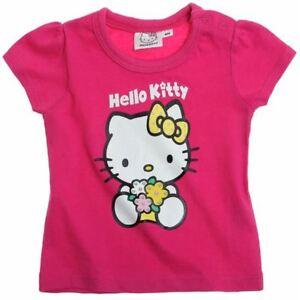 HELLO KITTY  t-shirt bébé  6 ou 12 mois  rose manches courtes NEUF