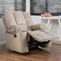 Raymond Fabric Glider Recliner Club Chair