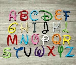 Disney Wooden Letters & Numbers 3mm  Thick BIRCH Alphabet Letters & Numbers