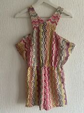 PINK YELLOW AZTEC PLAYSUIT BNWT M FESTIVAL TOWIE CELEB GLAM WEAR CHIC SUMMER