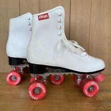 Women's Chicago Roller Skates White & Pink Size 10/11 *Needs New Wheels*