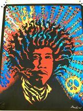 "Jimi Hendrix Signed Art Print Poster Numbered 21/25 Limited Edition 16.5"" x 20"""