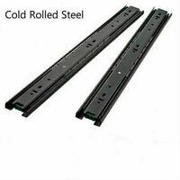 1 Pair Drawer Slides Runner Rail Ball Bearing Soft Full Extension 3 Section New
