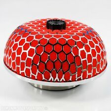 "Universal Dome Mushroom Red Air Filter For 76mm / 3"" Inch Induction Pipe Kit"