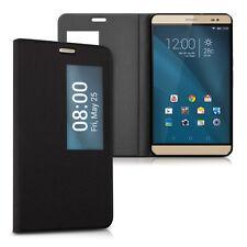 kwmobile Flip Cover Schutz Hülle für Huawei MediaPad X2 7.0 Schwarz Kunstleder